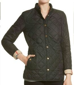 New Burberry Pensham Check Cuffs Quilted jacket